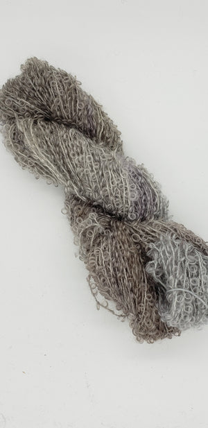 Wool Curly Locks - SMOKE - Hand Dyed Textured Yarn - Landscape Shades