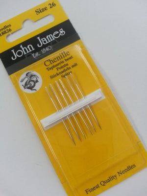 John James Chenille Needles #26 for Wool Applique