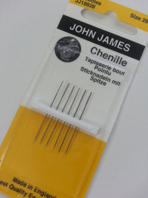 John James Chenille Needles #28 for Wool Applique