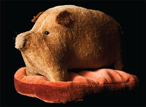 Pig on a Blanket Wool and Velvet Pattern - Pincushion