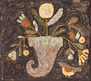 Cornucopia -  Paper Pattern for Rug Hooking by Maggie Bonanomi