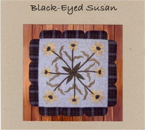 Black Eyed Susan Wool Applique Pattern - Wall Hanging or Table Runner