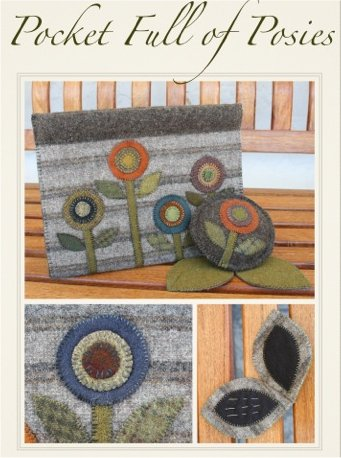 Pocket Full of Posies Wool Applique Pattern - Penny Pocket