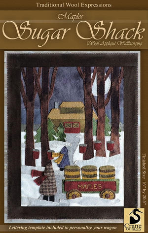 Maple Sugar Shack Wool Applique Pattern with Option for a Wool Kit