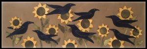 Flocking Crows Wool Applique Pattern - Table Runner