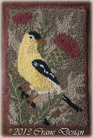 Goldfinch and Thistles - Punch Needle Pattern
