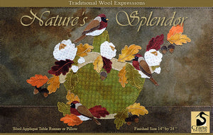 Nature's Splendor  - Wool Applique Pattern - Wall Hanging