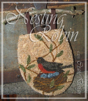Nesting Robin - Punch Needle Pattern