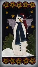 Snow Kitty - Wool Applique Pattern - Wall Hanging