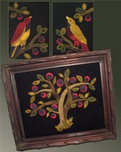 Tree of Life Wool Applique Pattern - Wall Hanging