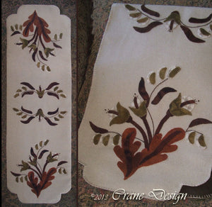 Autumn Splendour Wool Applique Pattern - Table Runner