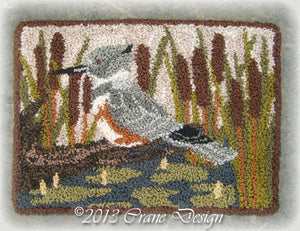 Belted Kingfisher - Punch Needle Pattern
