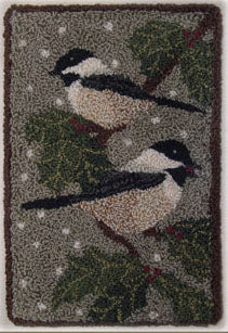 Black Capped Chickadee - Punch Needle Pattern