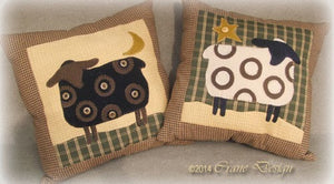 Country Friends Pillow Wool Applique Pattern