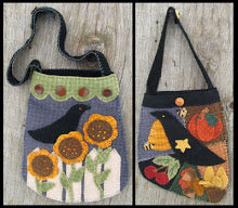 Crows in the Garden Wool Applique Pattern - Purse