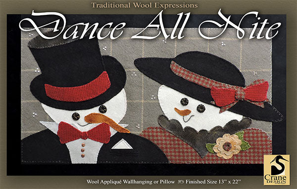 DANCE ALL NIGHT - Wool Applique Pattern - Table Mat