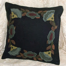 Ring of Flowers Wool Applique Pattern - Pillow