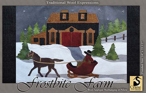 Frostbite Farm - Wool Applique Pattern - Wall Hanging/Pillow