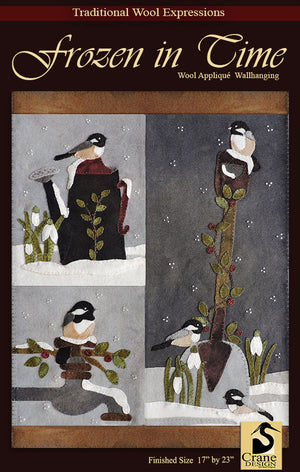 Frozen in Time - Wool Applique Pattern - Wall Hanging