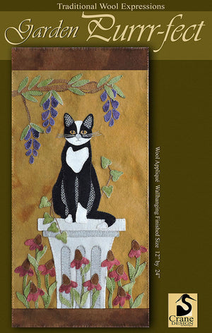 Garden Puurfect Wool Applique Pattern - Wall Hanging
