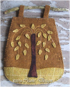 Sheep Oasis - Wool Applique Pattern - Table Runner and Twig Bag