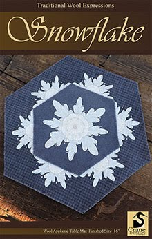 Snowflake Wool Applique Pattern - Table Mat
