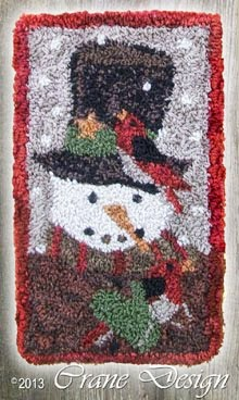 Mr. Snowman Snow Tunes - Punch Needle Pattern