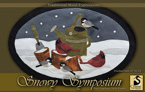 Snowy Symposium Wool Applique Pattern - Table Runner