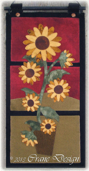 Sunflower Daze - Wool Applique Pattern - Table Runner