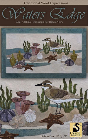 Water's Edge Wool Applique Pattern - Wall Hanging