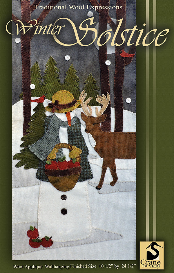 Winter Solstice - Wool Applique Pattern - Wall Hanging