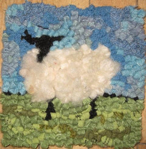 Sheep - Beginner's Rug Hooking Kit - Deanne Fitzpatrick