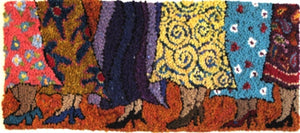 Skirts and Shoes -  Rug Hooking Pattern on Linen