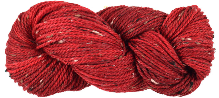 Bramble Tweedy - CURRANT -  Red Worsted Hand Dyed Yarn- Fleece Artist