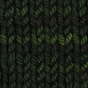 Wonder Woolen - CEDAR -  Fleece Artist Hand Dyed Yarn - Shades of Dark Green