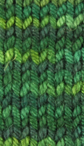 Wonder Woolen - SPRUCE - Fleece Artist Hand Dyed Yarn - Shades of Green/Blue