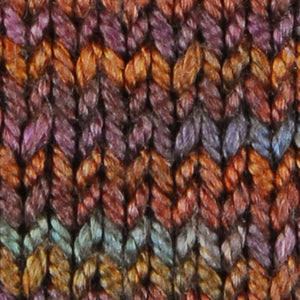 Wonder Woolen - WALNUT - Fleece Artist Hand Dyed Yarn - Shades of Brown/Blue/Purple