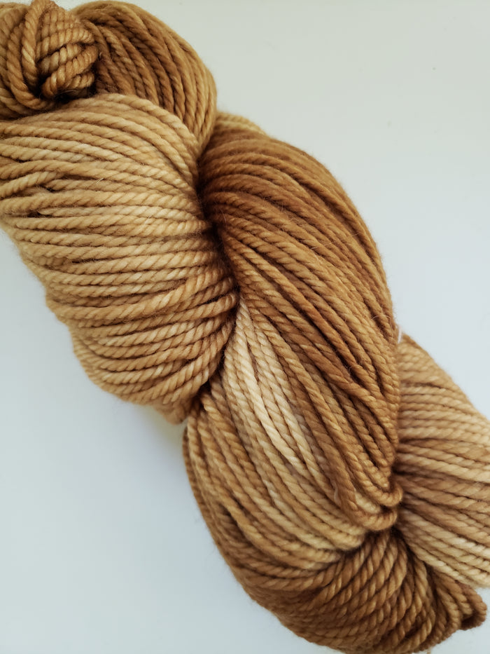 BROWN SUGAR - Back Country Hand Dyed OOAK Yarn 4 ounces/125g