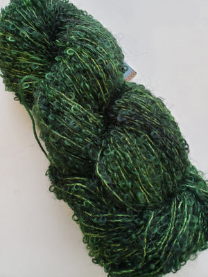 Silky Curly Locks - CEDAR - Hand Dyed Textured Yarn - Landscape Shades