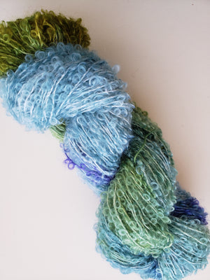 Silky Curly Locks - CLOUDBURST  - Hand Dyed Textured Yarn - Landscape Shades