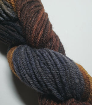 Wonder Woolen - EARTH -  Fleece Artist Hand Dyed Yarn - Shades of Brown