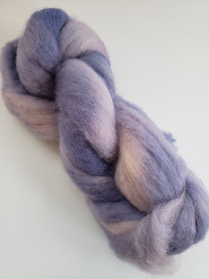 Corriedale Sliver - LILAC - OOAK Hand Dyed Fleece - Shades of Purple