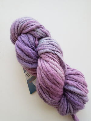 Slubby - LILAC - Merino/Blue Face Leicester - OOAK Hand Dyed Textured Yarn Thick and Thin  - Shades of Purple