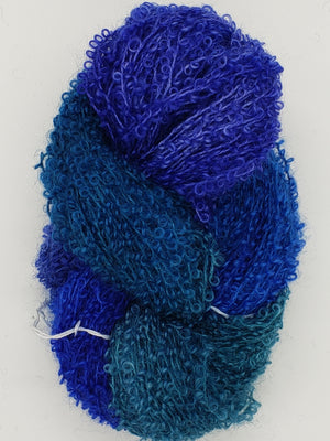 Wool Curly Locks - MARINE - Hand Dyed Textured Yarn - Landscape Shades
