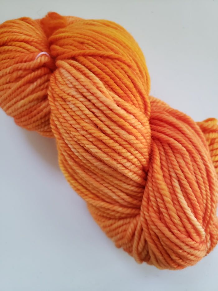 Back Country - ORANGE JULEP - Hand Dyed OOAK Yarn 4 ounces/125g