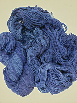 Chinook Worsted Weight - POLAR SEA - 100%  Merino Wool Yarn - Hand Dyed Blue Tonal Shade