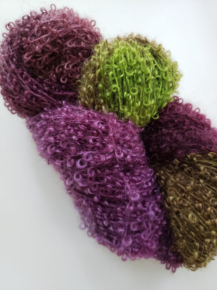 VICTORIA  -  Wool Curly Locks - Hand Dyed Textured Yarn - Landscape Shades