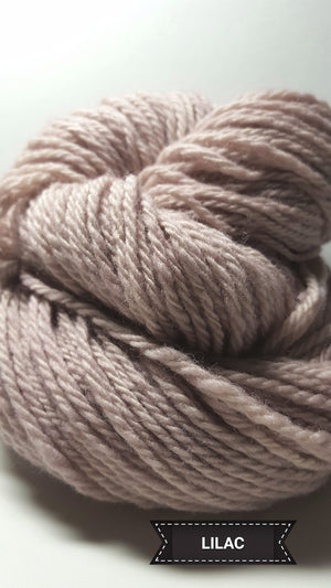 Lilac - Hand Dyed Aran/Worsted Yarn for Rug Hooking