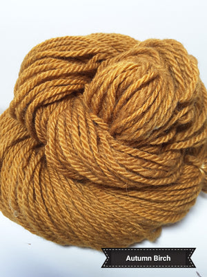 Autumn Birch - Hand Dyed Aran/Worsted Yarn for Rug Hooking
