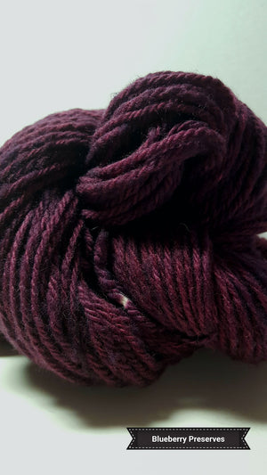Blueberry Preserves - Hand Dyed Aran/Worsted Yarn for Rug Hooking